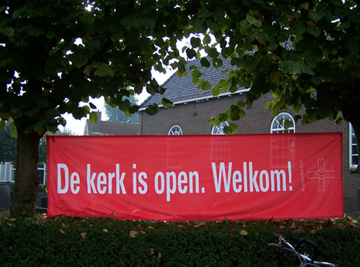 De kerk is open